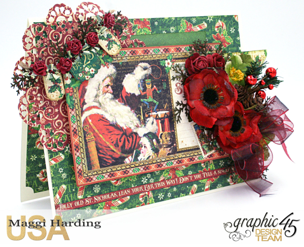 Christmas Card, St Nicholas, tutorial by Maggi Harding, Graphic 45 (1)