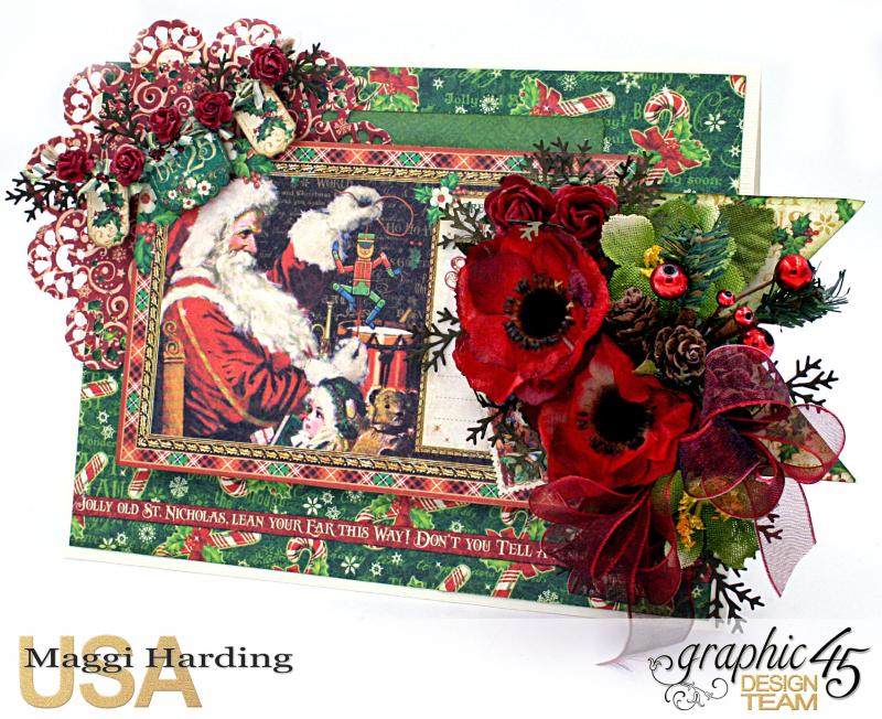 Christmas Card, St Nicholas, tutorial by Maggi Harding, Graphic 45 (2)