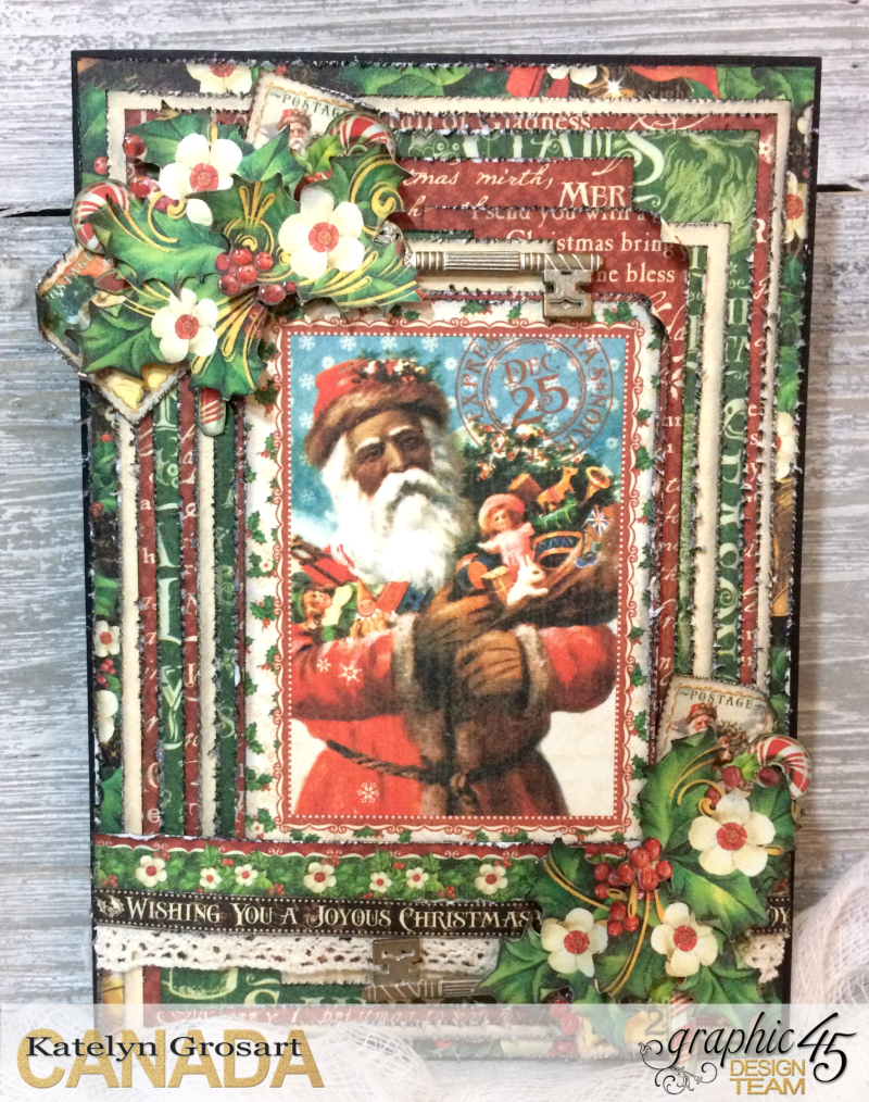 Christmas Card, St. Nicholas, Tutorial by Katelyn Grosart, Product by Graphic 45, Photo 1