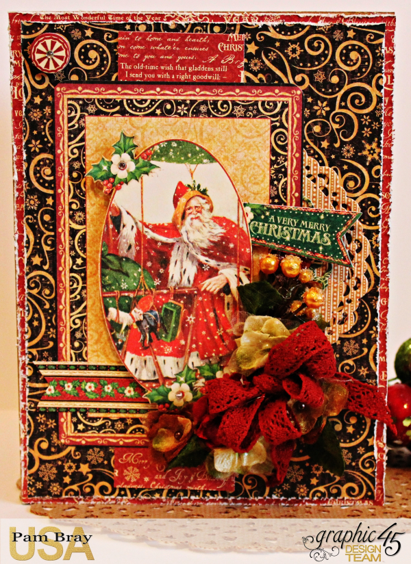 Graphic 45 St Nicholas Merry Christmas Card and Blessing Boxes - Petaloo and Xyron - Tutorial - Pam Bray - Photo 7_2092