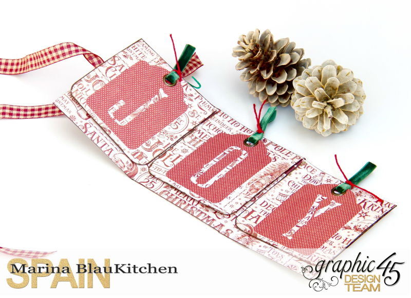 Holiday card St Nicholas Tutorial by Marina Blaukitchen Product by Graphic 45 photo 4