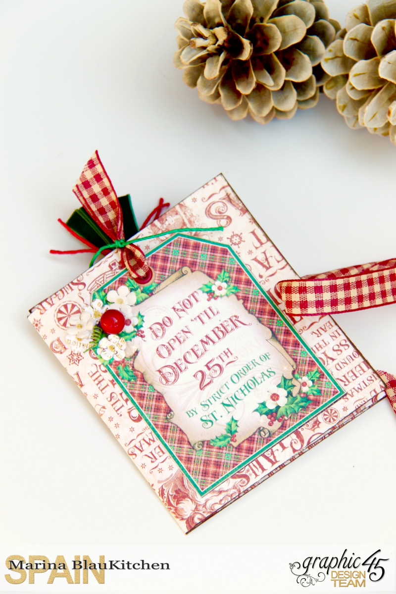 Holiday card St Nicholas Tutorial by Marina Blaukitchen Product by Graphic 45 photo 2