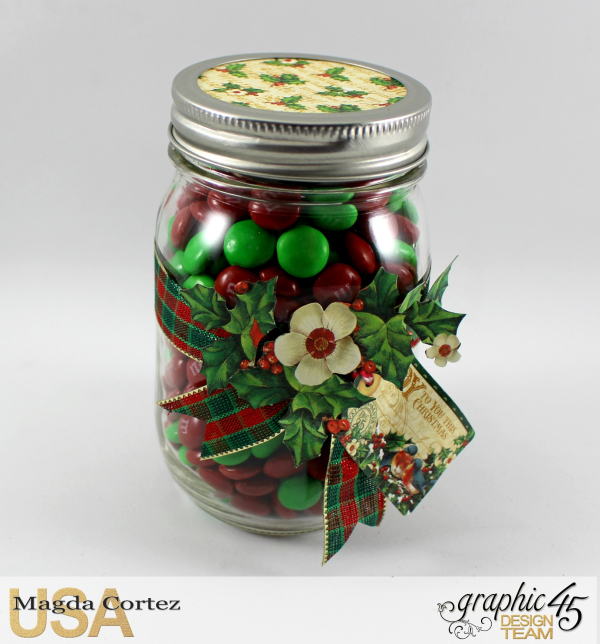Christmas Mason Jar Gift, St. Nicholas, By Magda Cortez, Product By Graphic 45, Photo 04 of 05, Project with Tutorial