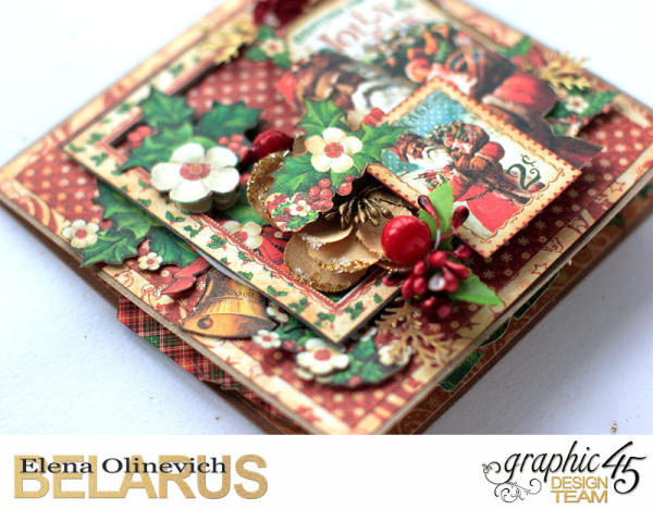 Christmas Pop Up Card, St.Nicholas, by Elena Olinevich, product by Graphic45, photo4