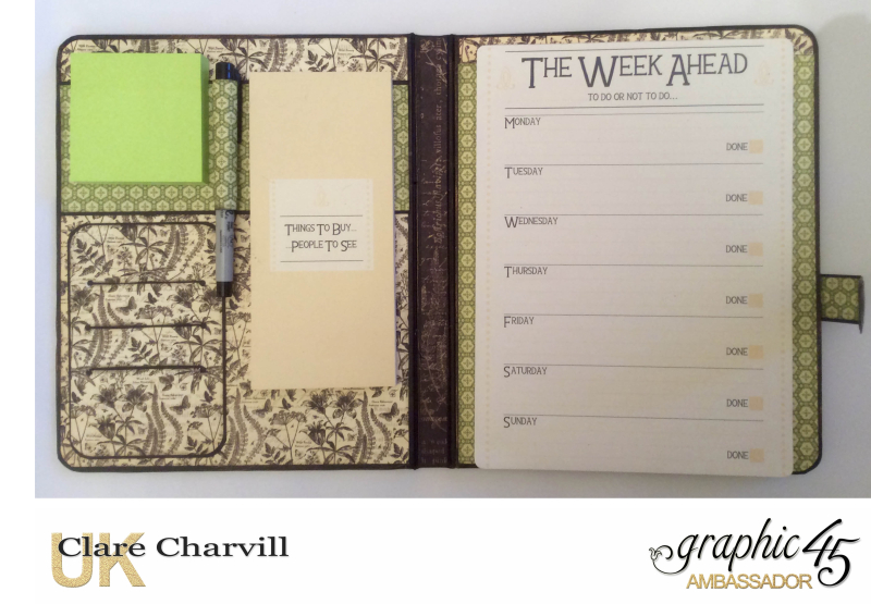 Natures Sketch Book Planner 5 Clare Charvill Graphic 45