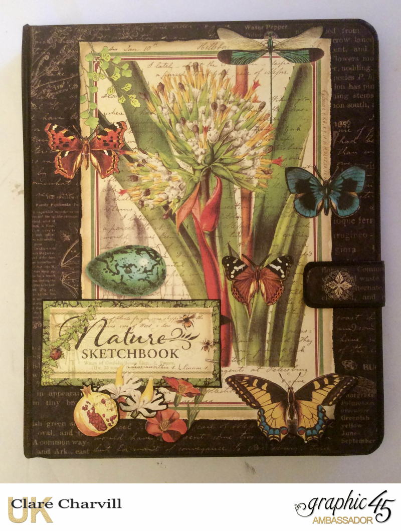 Natures Sketch Book Planner 1 Clare Charvill Graphic 45