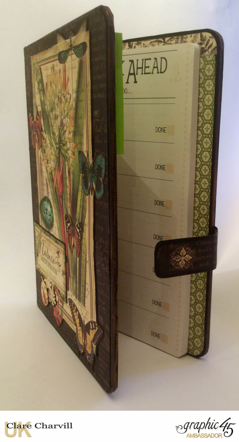Natures Sketch Book Planner 4 Clare Charvill Graphic 45
