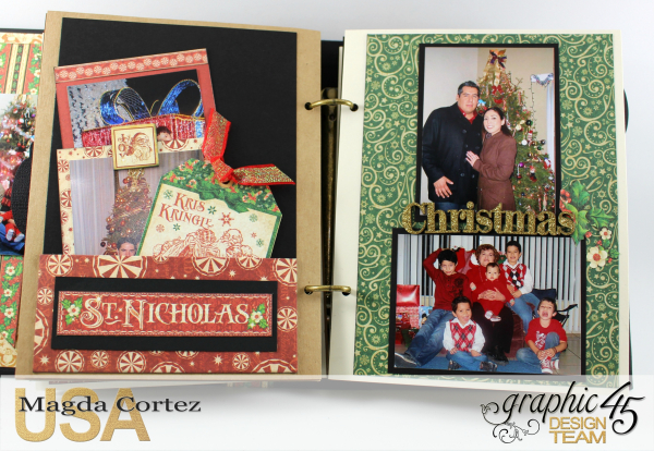 Past Christmas Mini Album, St. Nicholas, By Magda Cortez, Product By Graphic 45, Photo 10 of 14, Project with Tutorial
