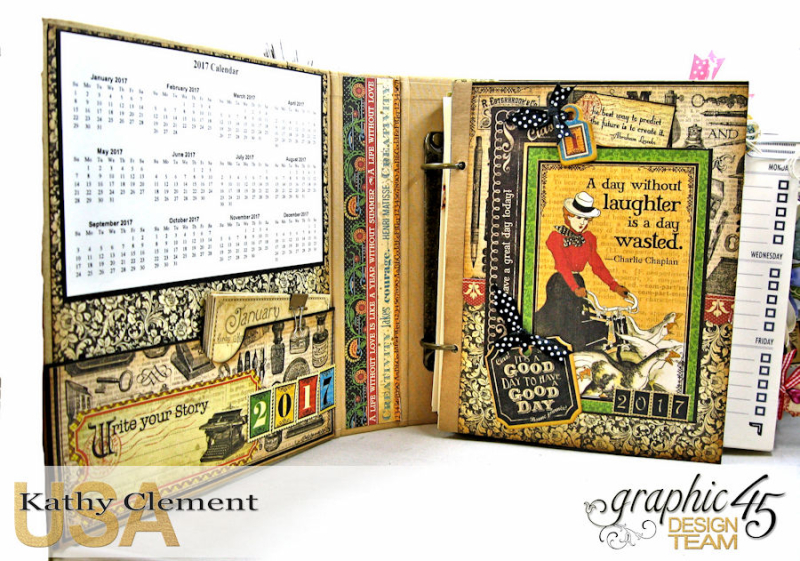 2017 Planner, Place in Time, by Kathy Clement, Product by Graphic 45, Photo 9