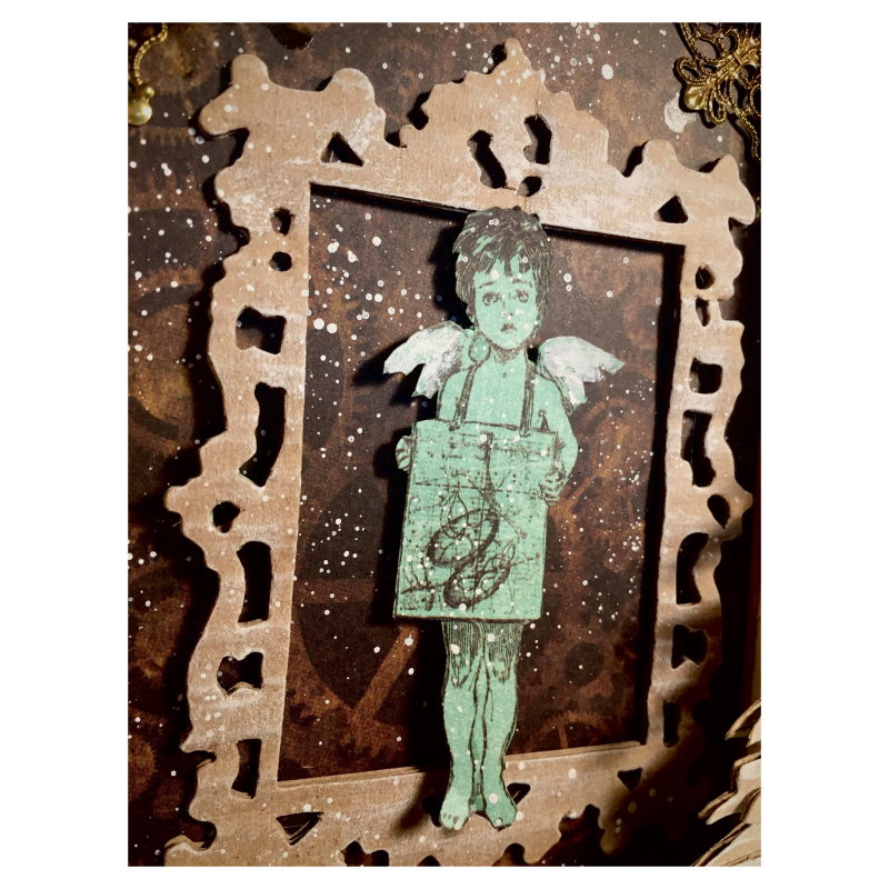 Sweet angel canvas, Steampunk debutante , photo 2 , by Nico Scrap, Product by Graphic 45.