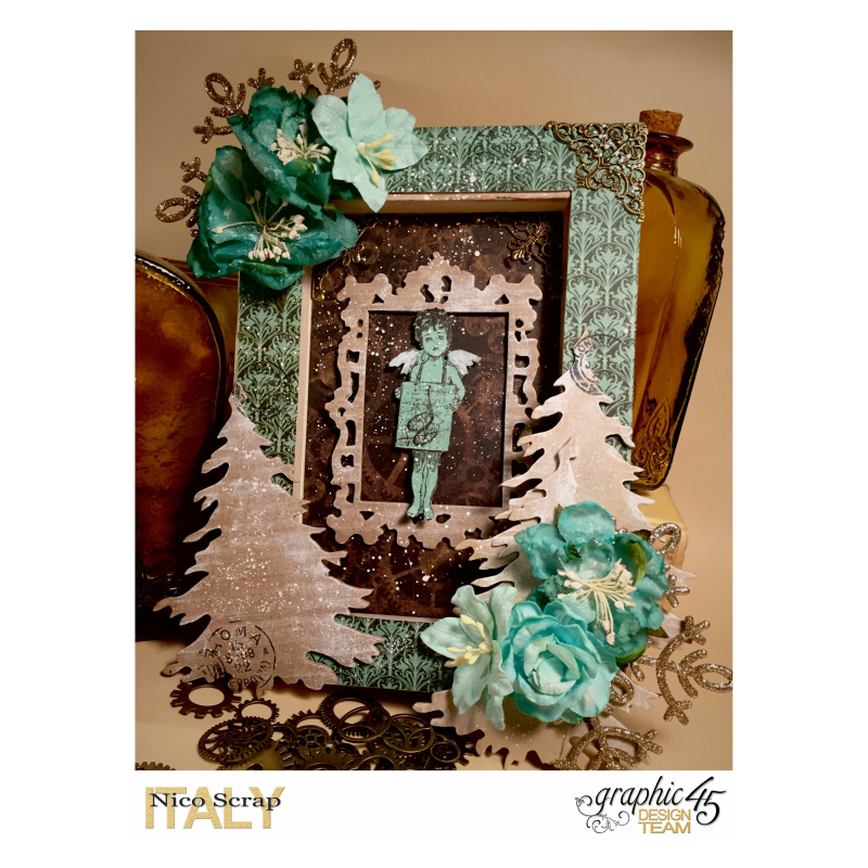 Sweet angel canvas, Steampunk debutante , photo 1 , by Nico Scrap, Product by Graphic 45.