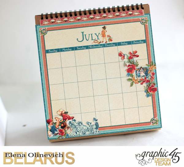 Easel Calendar, Children's Hour, by Elena Olinevich, product by Graphic45, photo18