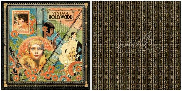 1 - Vintage Hollywood Signature page, a new collection from Graphic 45!