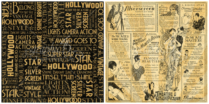 7 - Silver Screen, a page from our new Graphic 45 collection, Vintage Hollywood!
