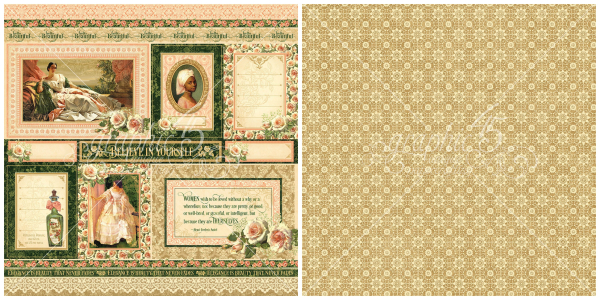 3 - Blanche, a page from Portrait of a Lady,  a new collection from Graphic 45!