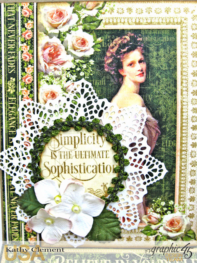 Simplicity Easel Card, Portrait of a Lady, by Kathy Clement, Product by Graphic 45, Photo 2