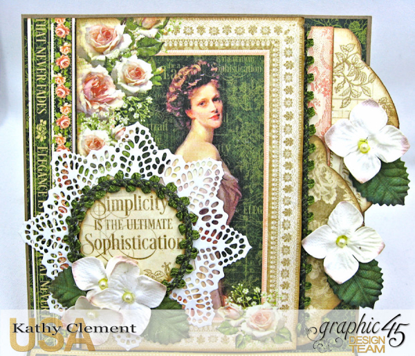 Simplicity Easel Card, Portrait of a Lady, by Kathy Clement, Product by Graphic 45, Photo 4