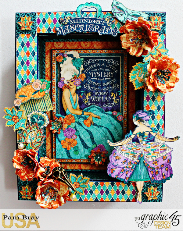 Graphic 45 Midnight Masquerade Upcycle Frame with Tutorial by Pam Bray Photo 1_3706