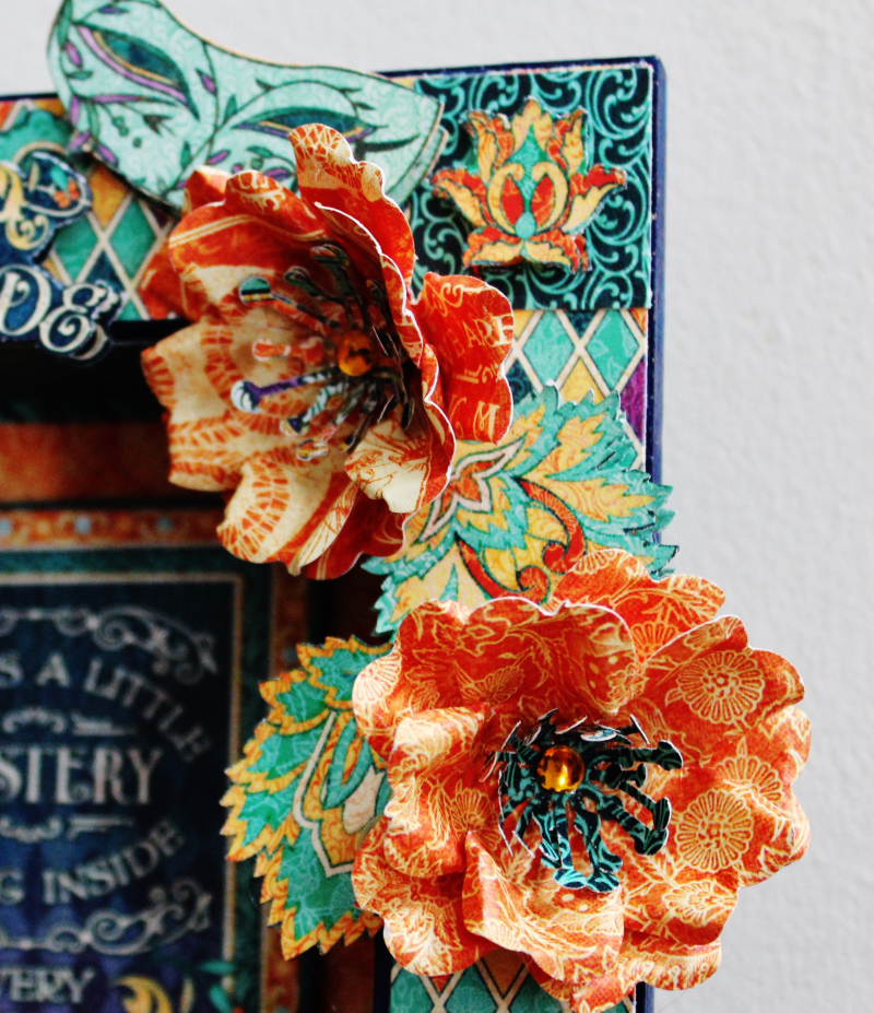Graphic 45 Midnight Masquerade Upcycle Frame with Tutorial by Pam Bray Photo 5 _3692