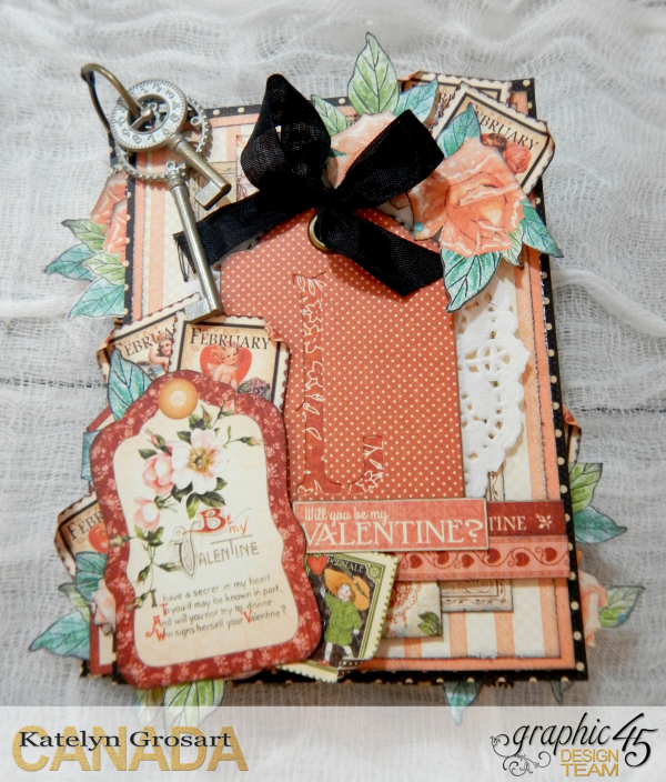 LOVE Mini Album, Cafe Parisian-Children's Hour & Place In Time DCE, By Katelyn Grosart, Product By Graphic 45, Photo 2