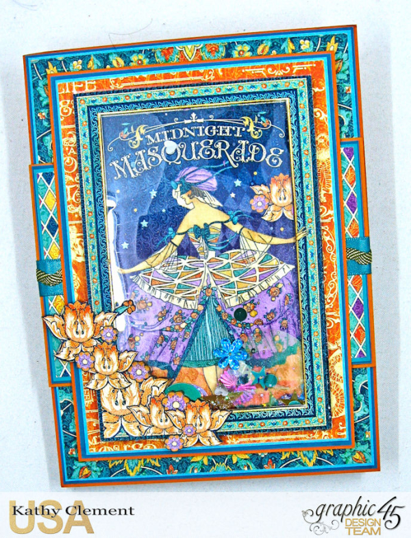 Beautiful Person Birthday Shaker Card, Midnight Masquerade, by Kathy Clement, Product by Graphic 45, Photo 7