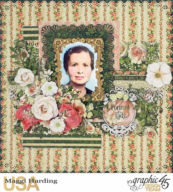 Mema layout, Portrait of a Lady, Maggi Harding, Graphic 45 (1)