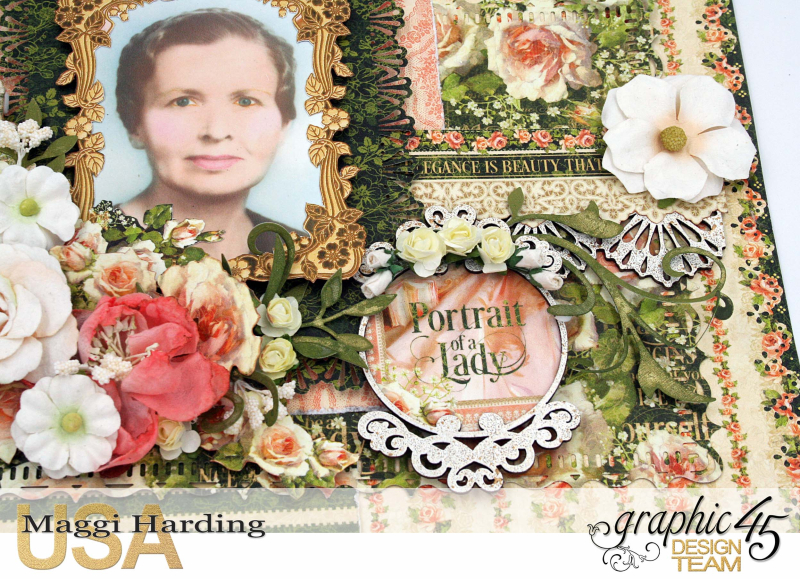 Mema layout, Portrait of a Lady, Maggi Harding, Graphic 45 (2)