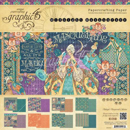 Midnight Masquerade 8x8 Paper Pad