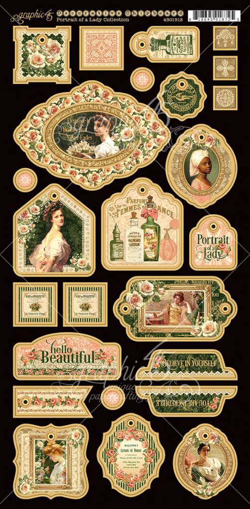 Portrait of a Lady Decorative Chipboard