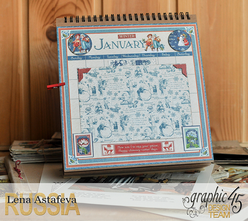 Calendar- Children's hour- by Lena Astafeva-products by Graphic 45 (1 из 26)