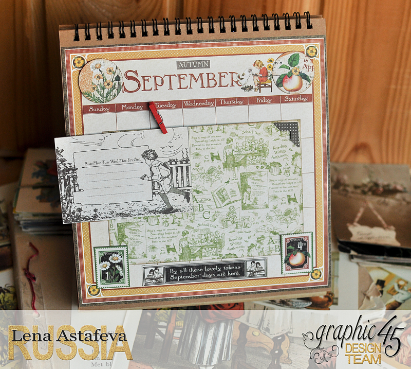 Calendar- Children's hour- by Lena Astafeva-products by Graphic 45 (21 из 26)
