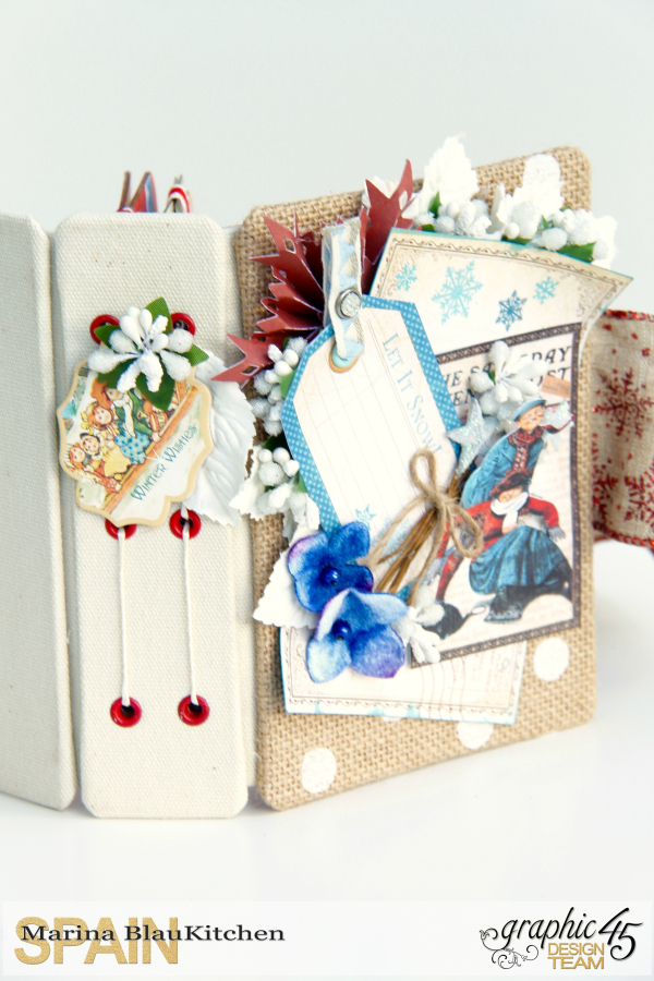 Winter-themed Diary Album Place in Time by Marina Blaukitchen Product by Graphic 45 photo 11