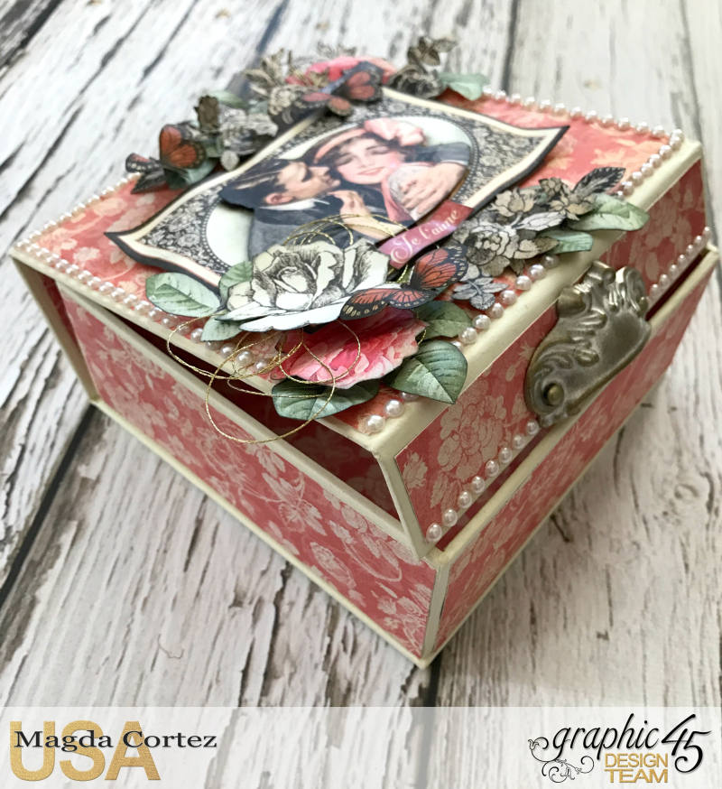 Be Mine Treasure Box- Mon Amour- By Magda Cortez- Product of Graphic 45-  Photo 02 of 07