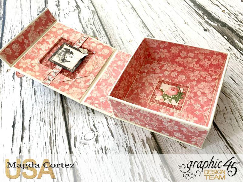 Be Mine Treasure Box- Mon Amour- By Magda Cortez- Product of Graphic 45-  Photo 04 of 07