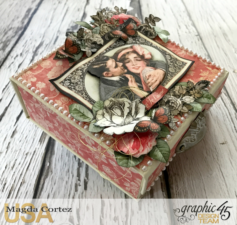 Be Mine Treasure Box- Mon Amour- By Magda Cortez- Product of Graphic 45-  Photo 01 of 07