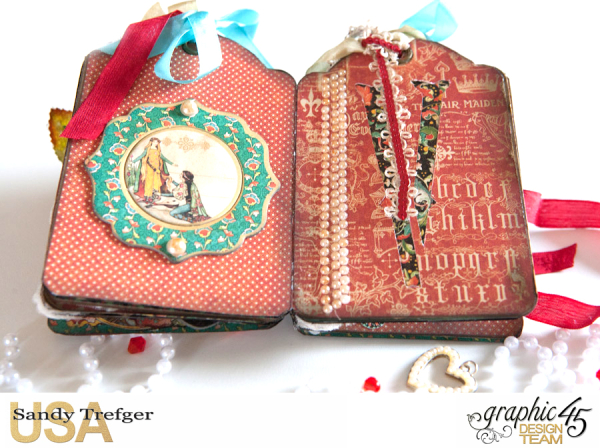 Love Tag Album, Enchanged Forest, Tutorial by Sandy Trefger, Product by Graphic 45, Photo 009