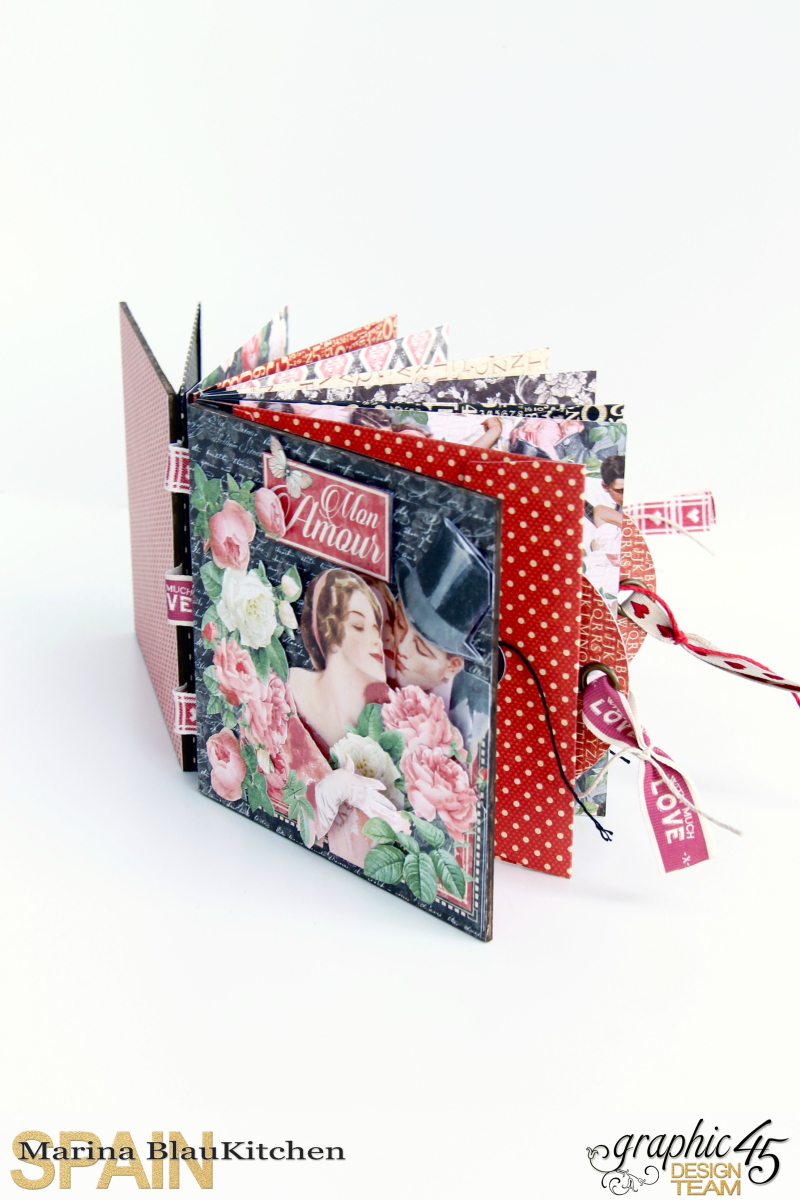Love Album Policy Envelopes Tutorial by Marina Blaukitchen Product by Graphic 45 photo 2