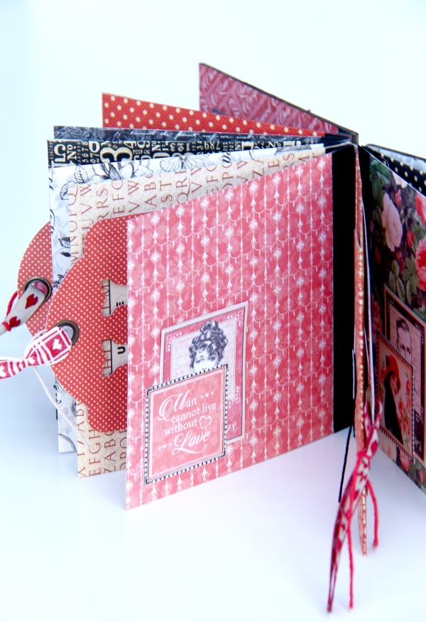 Love Album Policy Envelopes Tutorial by Marina Blaukitchen Product by Graphic 45 photo 12