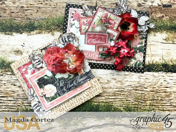Love Policy, Mon Amour and Time to Flourish, By Magda Cortez, Product of Graphic 45, Photo 10 of 10, Project with Tutorial