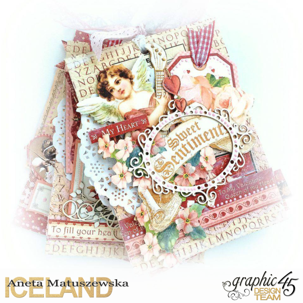 Place in Time and Sweet Sentiments envelopes Valentines album for Graphic 45 by Aneta Matuszewska, p