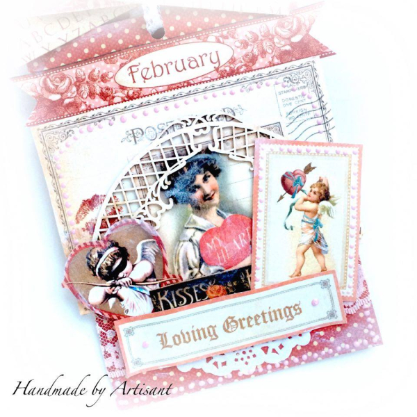 -Place in Time- and -Sweet Sentiments- envelopes Valentines album for Graphic 45 by Aneta Matuszewska, photo 6