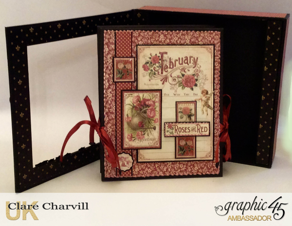 Vintage Valentine Album in a Box 3 Clare Charvill Graphic 45