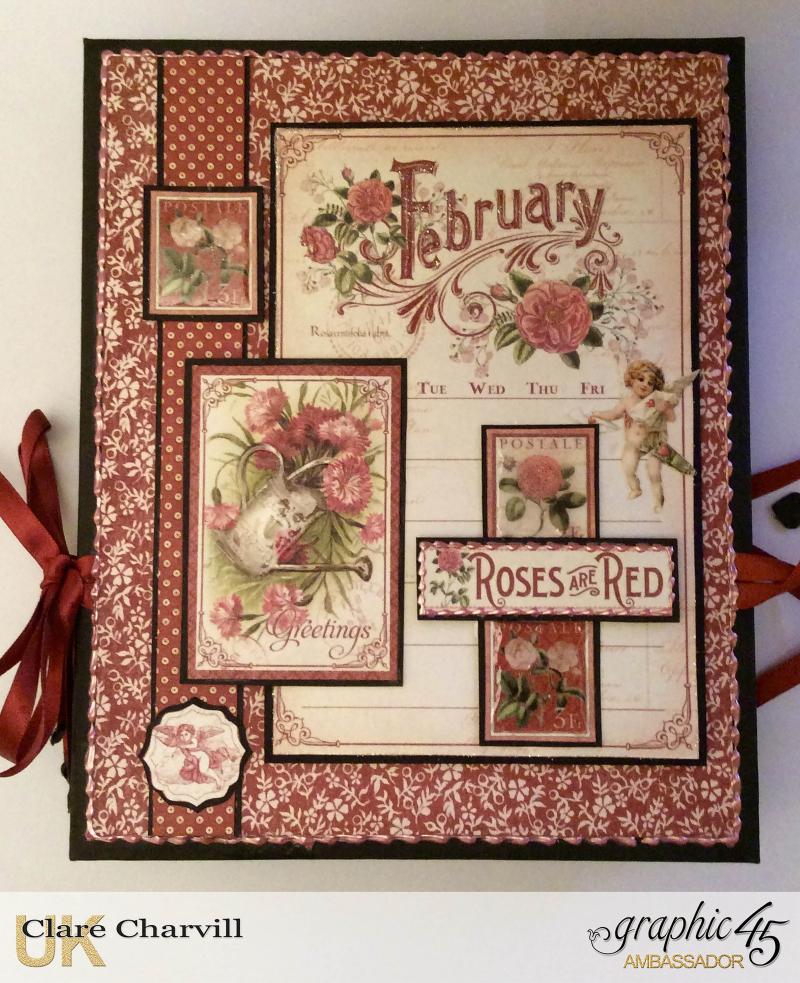 Vintage Valentine Album in a Box 5 Clare Charvill Graphic 45