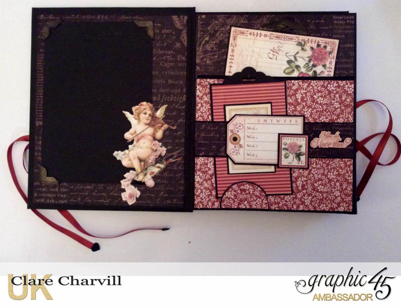 Vintage Valentine Album in a Box 6 Clare Charvill Graphic 45