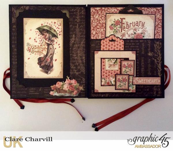 Vintage Valentine Album in a Box 10 Clare Charvill Graphic 45