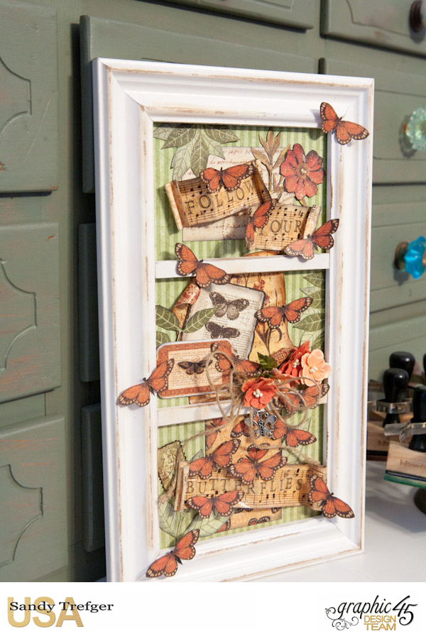Follow Your Butterflies Wall Frame, Botanicabella, Tutorial by Sandy Trefger, Product by Gralphic 45, Photo 001