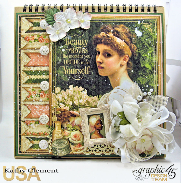 Beauty Easel Album, Portrait of a Lady, by Kathy Clement, Product by Graphic 45, Photo 2