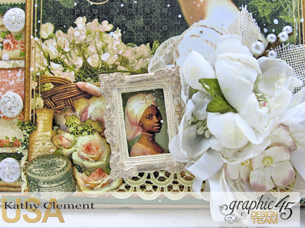 Beauty Easel Album, Portrait of a Lady, by Kathy Clement, Product by Graphic 45, Photo 4