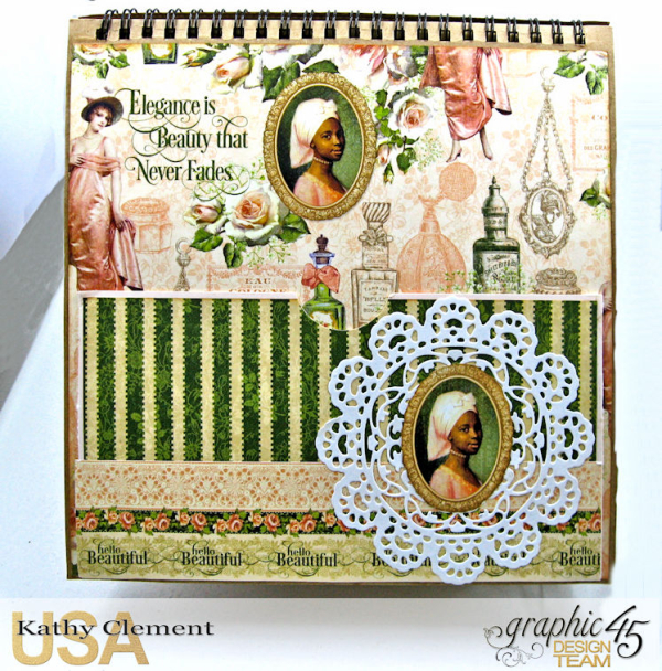 Beauty Easel Album, Portrait of a Lady, by Kathy Clement, Product by Graphic 45, Photo 19