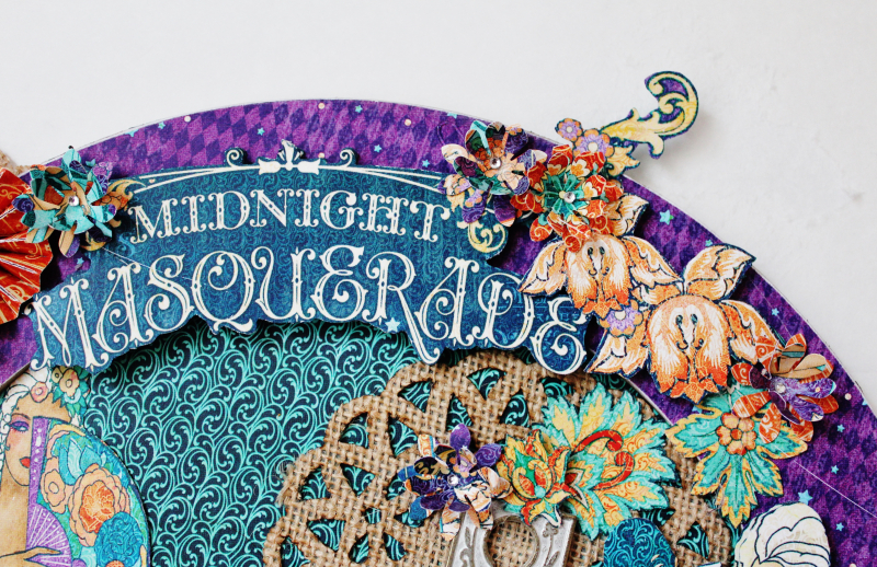 Graphic 45 Masquerade Wreath by Pam Bray with Tutorial Photo 2_3635